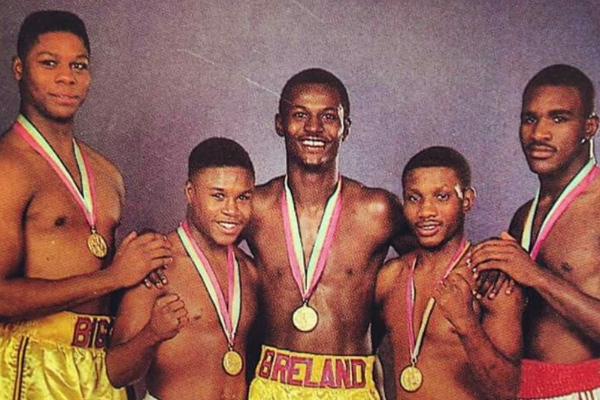 Photo of Boxing – 1983 – World Amateur Championship – Welterweight Bout – Mark Breland Vs Sun Yung Bol