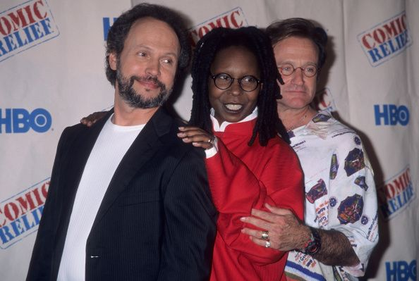 Photo of Comedy – 1988 – Comic Relief – Dennis Miller + Sam Kinisman + David Letterman + Billy Crystal