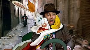 Photo of Movie – 1988 – Animation – Who Framed Roger Rabbit – With Baby Herman + Roger Rabbit Cartoon