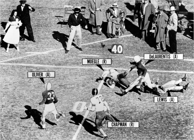 Photo of NCAAF – 1954 – Rice RB Dicky Moegle Running All Over Alabama In The Cotton Bowl + The Phantom Tackle