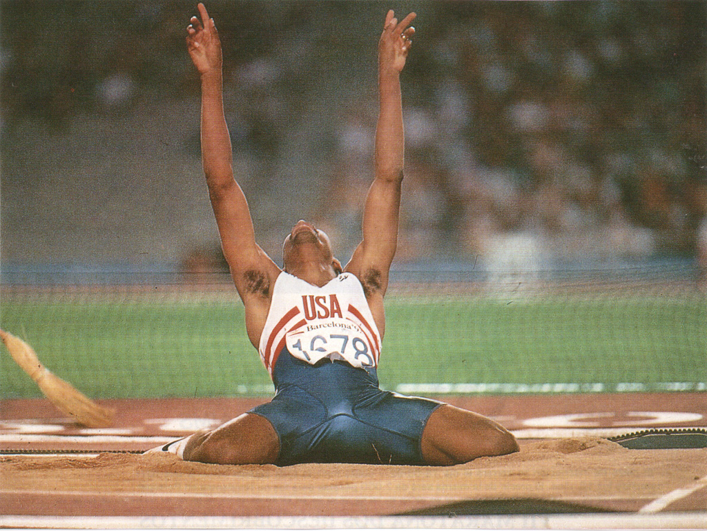 Photo of Olympics – 1984 – L A Games – Track + Field Mens Triple Jump – 1st Jump – USA Mike Conley