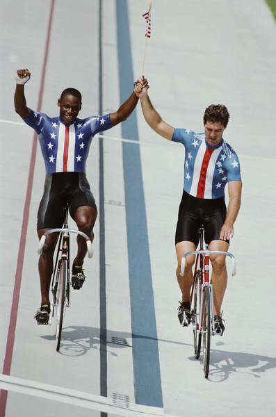 Photo of Olympics – 1984 – L A Games – Mens Track Cycling Sprint Finals – USA Nelson Vails Vs USA Mark Gorski