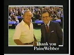 Photo of TV Ads – 1987 – Strohs Beer + Golf Great Arnold Palmer For Paine Webber Investments