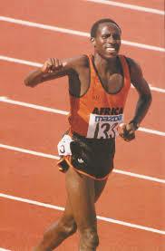 Photo of Track + Field – 1985 – ABC Sports 4th World Cup Special Feature – Donna De Varona Interviews 800m Winner AFR Sammy Koskei