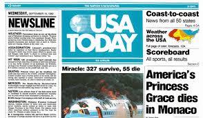 Photo of TV Ads – 1987 – USA Today Newspaper