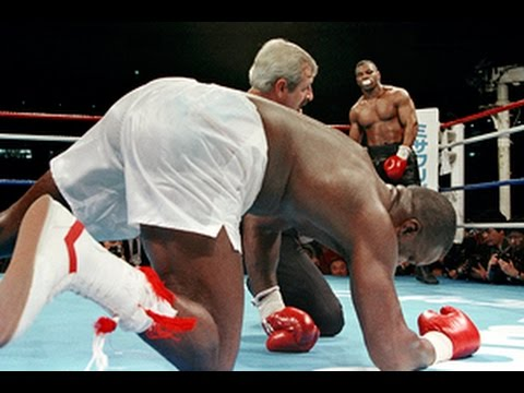 Photo of Boxing – 1990 – HBOs Larry Merchant Interviews With Buster Douglas + Mike Tyson On Possible Long Count