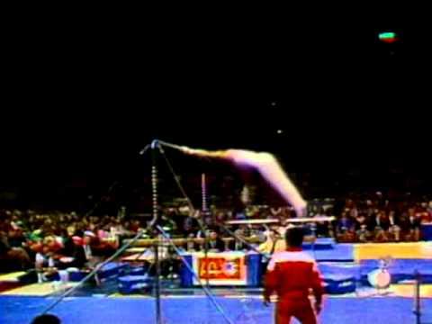 Photo of Gymnastics – 1985 – American Cup Championship -Mens Horizontal Bar Finals – CHN Yang Yueshan