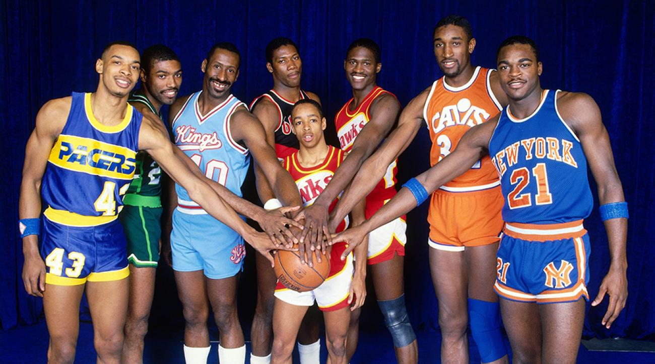 Photo of NBA – 1987 – WTBS Charlie Neal Interviews Past Slam Dunk Champs Spud Webb + Dominique Wilkins