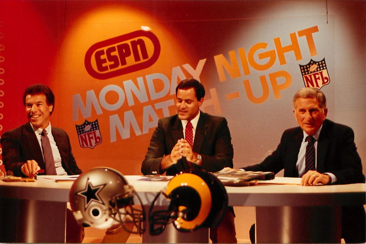 Photo of NFL – 1985 – ESPN Monday Nite Matchup Bears Vs Dolphins – Chris Berman + Steve Sabol + Allie Sherman