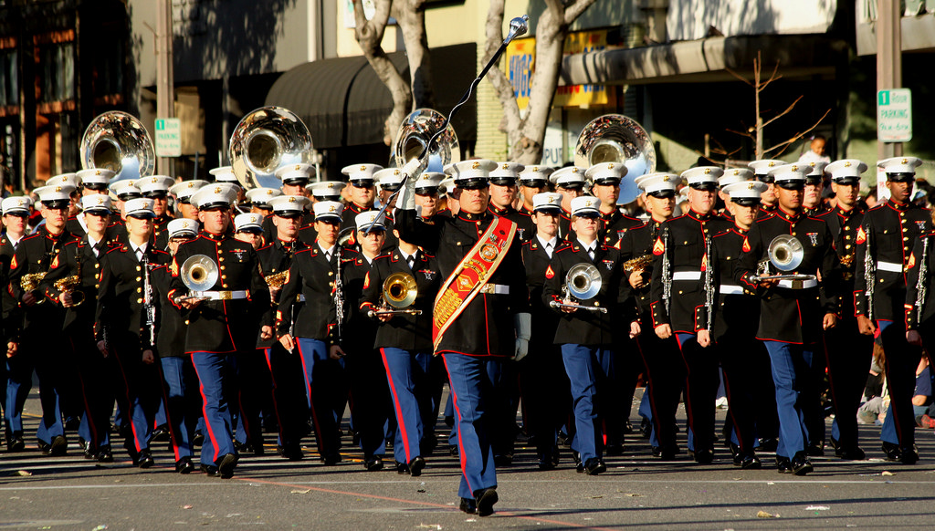 Photo of Music – 1985 – US Marine Corp Band – The Marines Hymn – Performed At D-Day Dynamite Boxing Event