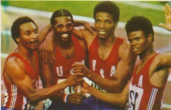 Photo of Track + Field – 1980 – World Invitational From Peking China – Mens 4 x 100m Relay – USA Wins Gold