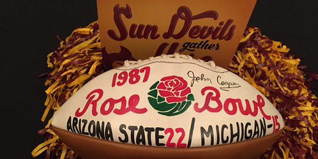 Photo of NCAAF – 1987 – NBCs Bill Macatee Showcases The ASU Sun Devils Prior To Rose Bowl Game Vs Michigan