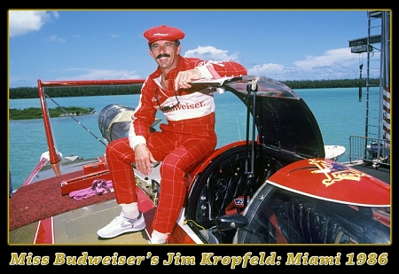 Photo of Speed Boat Racing – 1987 – Interview With Driver Jim Kropfeld Of Miss Budweiser At The Emerald Cup