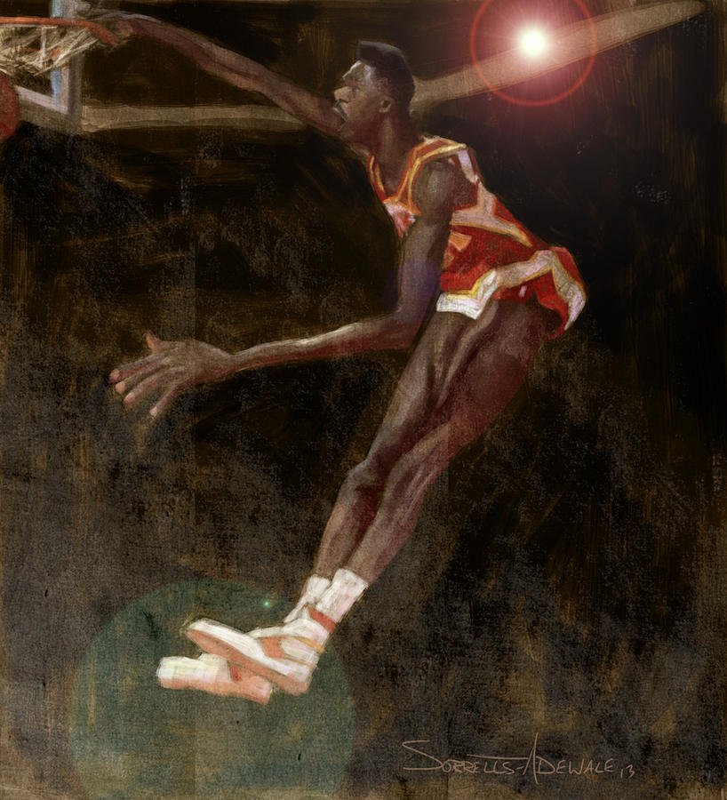 Photo of NBA – 1988 – All Star Saturday Night Slam Dunk Contest Finals – Hawks F Dominique Wilkins Final Dunk