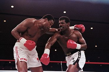 Photo of Boxing – 1986 –  HBOs Tompkins + Leonard + Merchant Provide Judges Review Of  1st Spinks Vs Holmes