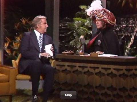 Photo of Comedy – 1978 – The Johnny Carson Show – With Psychic Carnac The Magnificent and Actor Dom DeLuise