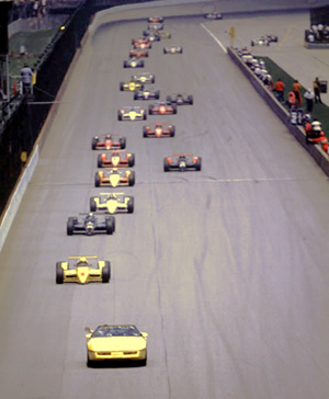 Photo of Auto Racing – 1986 – Indy 500 Special – Drivers Start Your Engines + The Pace Lap Before The Start