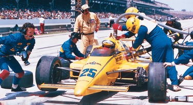 Photo of Auto Racing – 1987 – Indy 500 – ABCs Jim Lampley + Sam Posey + Bobby Unser Provide PreRace Analysis