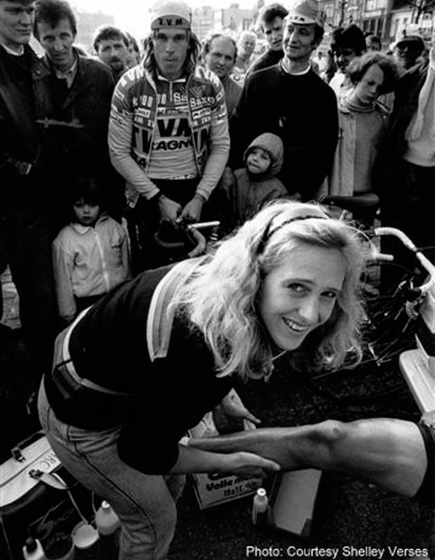 Photo of Cycling – 1987 – Tour De France Special – Women Masseuse Working On The Tour – With John Dockery