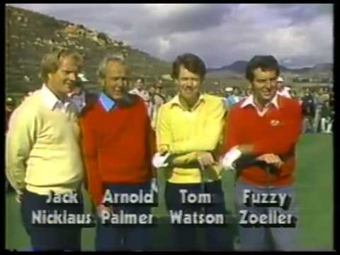 Photo of Golf – 1985 – Skins Game – Interviews Of Jack Nicklaus + Arnold Palmer + Tom Watson + Fuzzy Zoeller