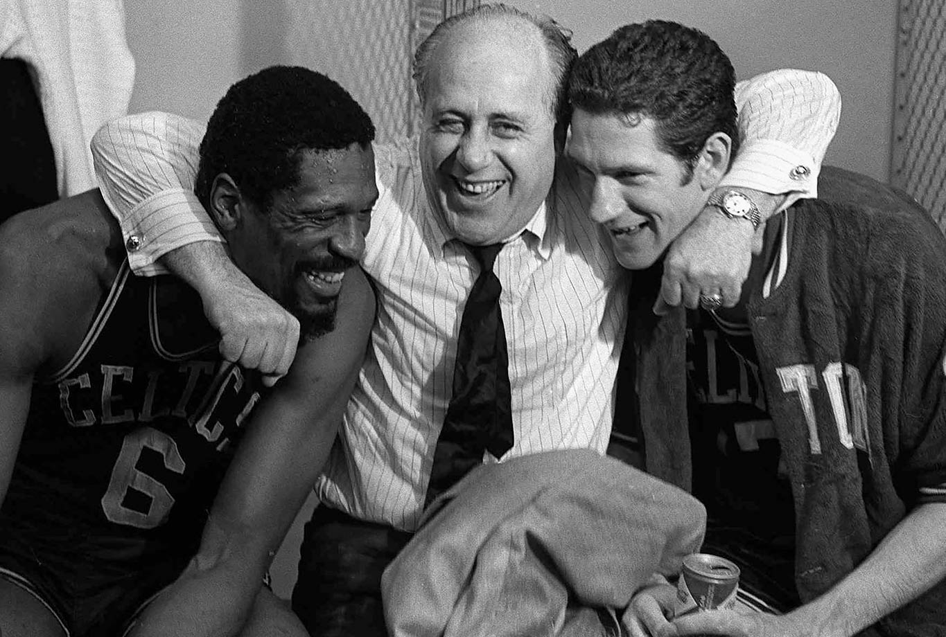 Photo of NBA – 1985 – Special – Tribute To Celtics Red Auerbach – With  Roy Firestone + Stu Black