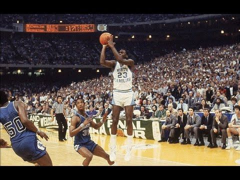 NCAAM – 1982 – Championship Game – North Carolina Tar Heels Vs ...