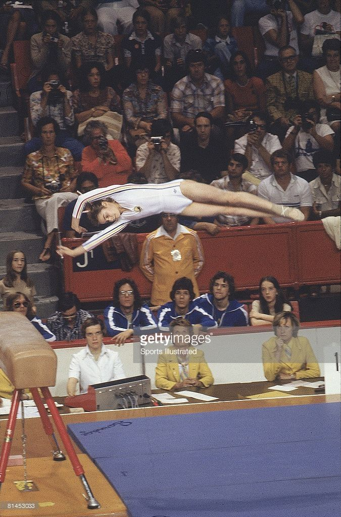 Photo of Gymnastics – 1979 – Womens World Championships – With Rumania Nadie Comaneci In The Vault