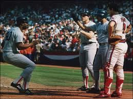 Photo of MLB – 1986 – ALCS Angels Vs Red Sox Gme 6 PreGame Show With Al Michaels + Jim Palmer + Tim McCarver