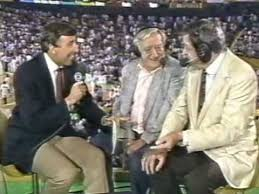 Photo of NBA – 1987 – Finals Game 5 Celtics Vs Lakers Halftime – Interviews Of Chick Hearns + Johnny Most