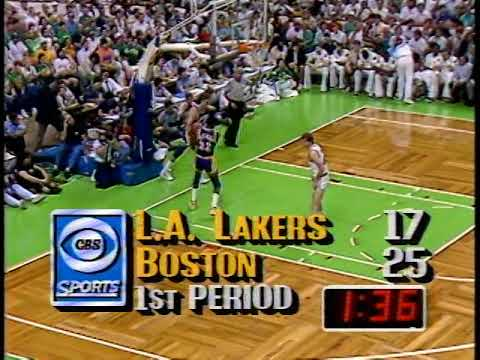 Photo of NBA – 1987 – Finals Game 3 Lakers Vs Celtics At The Half – With Brent Musburger + Coach Frank Layden
