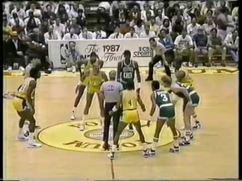 Photo of NBA – 1987 – Finals Game 6 Lakers Vs Celtics At The Half – With Jerry West + Oscar Robertson