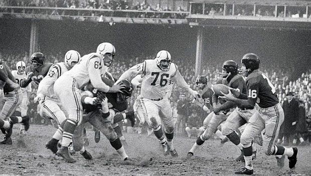 Photo of NFL – 1958 – NFL Films – The Baltimore Colts Defensive Front Four – The Most Colorful Of Them All