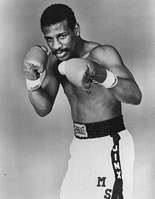 Photo of Boxing – 1985 – Marv Albert Interviews Lt Heavywt Champ Michael Spinks On Tragic Death Of His Wife