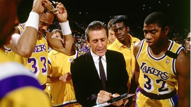 Photo of NBA – 1987 – NBA Finals Game 4 Lakers Vs Celtics Pregame Interview WIth Lakers Coach Pat Riley