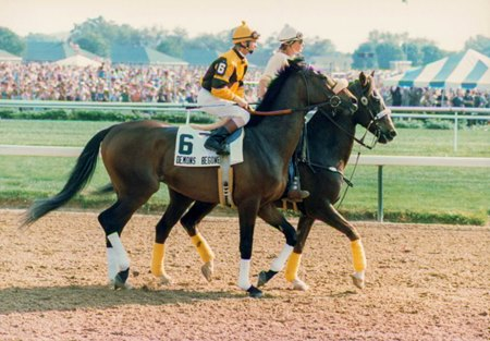 Photo of Horse Racing – 1987 – Kentucky Derby –  Jack Whitaker PostRace interview With Favorite Demons Begone