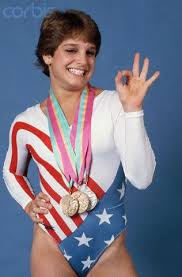 Photo of Gymnastics – 1985 – CBSs Pat OBrien Interview With USA Mary Lou Retton At The NBA All Star Game