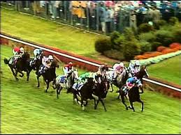Photo of Horse Racing – 1988 – Breeders Cup Turf Race – With Manila 1st + Theatrical 2nd + Estrapade 3rd