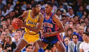 Photo of NBA – 1988 – Finals Game 7 – Pistons Vs Lakers – Pat O'Brien Interviews Lakers GM Jerry West