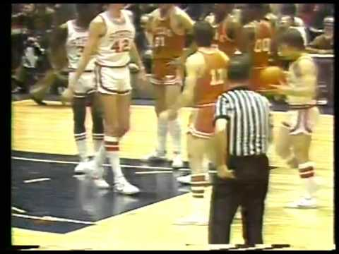 Photo of NCAAM – 1978 – N I T Finals – Longhorns Vs Wolf Pack – At The Half Featuring Pepsi Hot Shots Event