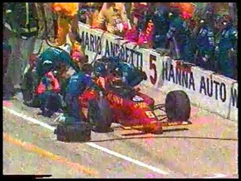 Photo of Auto Racing – 1987 – Indy 500 – Jerry Gappens Interviews Katie Guerrero In Pits Of Husband Roberto