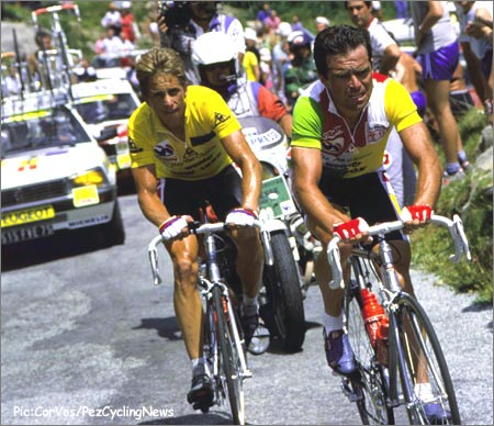 Photo of Cycling – 1985 – Tour De France Stages 19 Thru 22 – Featuring USA Greg LeMond + FRA Bernard Hinault