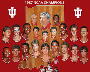 Photo of NCAAM – 1987 – Special Hoosier Mania – A Look At Coach Bobby Knight Indiana Team –    With Tim Ryan