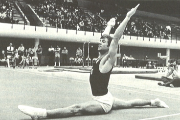 Photo of Gymnastics – 1980 – Exhibition – Men's Floor Exercise   USA Peter Kormann – With Jim McKay