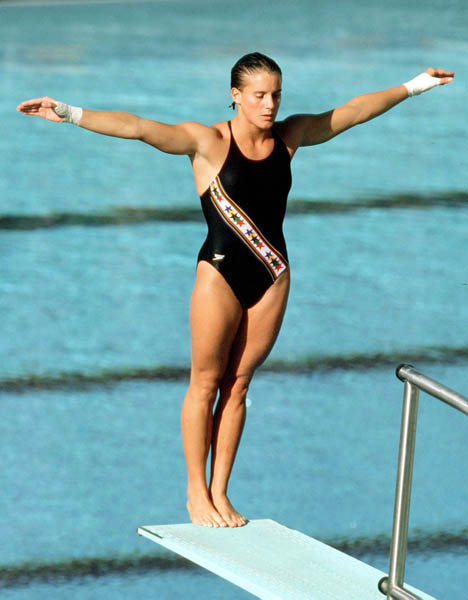 Photo of Olympics – 1984 – L A Games – Diving – Women Springboard Prelims – Dive 8 – CAN Debbie Fuller