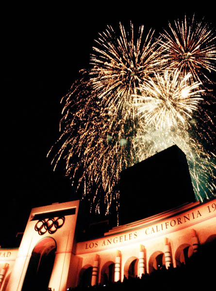 Photo of Olympics – 1984 – L A Games Closing Ceremony – Fireworks Display + Salute To Each Olympics Host City