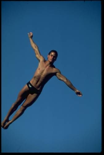 Photo of Olympics – 1984 – L A Games – Diving – Mens 10m Platform Dive 6 – USAs Bruce Kimbell + Greg Louganis