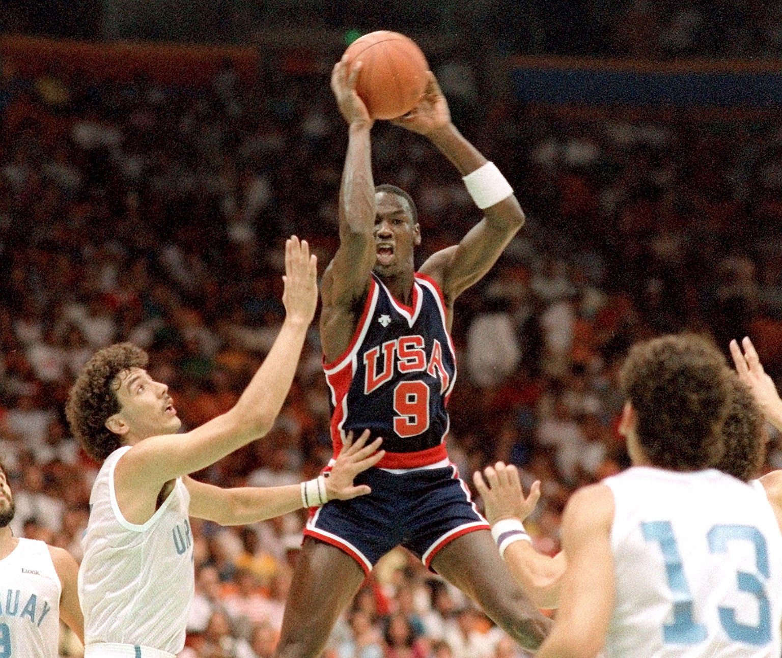 Photo of Olympics – 1984 – L A Games – Basketball – Men's Gold Medal Game – Last 4 Minutes – USA Vs Spain