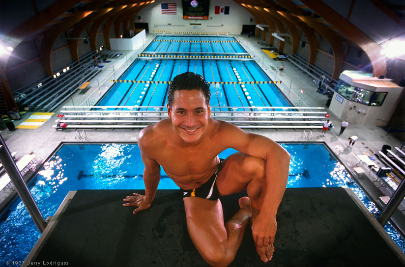 Photo of Olympics – 1984 –  L A Games – Diving – Mens 10m Platform Dive 6 – USA Greg Louganis