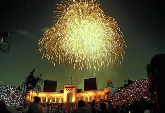 Photo of Olympics – 1984 – L A Games – Closing Ceremony – 30 Min Fireworks Display + Musical Salute To Games