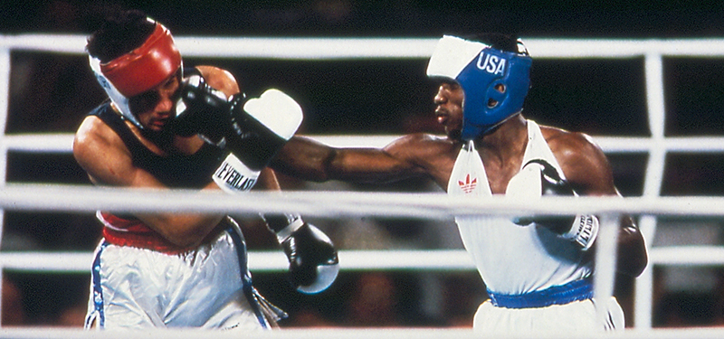 Photo of Olympics – 1984 – L A Games – Boxing – Lightweight Bout – USA Pernell Whitaker Vs KOR Chil Sung Chun
